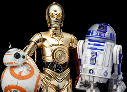 Star Wars Artfx+ R2-D2 & C-3PO with BB-8