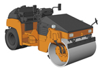 1/35 Hitachi Construction Machinery Combined Road Roller ZC50C-5