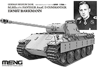 1/35 German Medium Tank Sd.Kfz.171 Panther Ausf.D Commander Ernst Barkmann