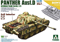 1/35 WWII German Medium Tank Sd.Kfz.171 Panther Ausf.D Early/Mid Production w/Full Interior Kit 2 in 1