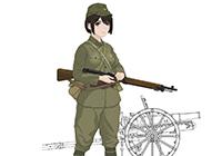 1/35 Rekiso Otome: Konoka w/Type 41 75mm Mountain Gun