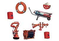 1/700 Modern Swim Ring & Fire Extinguishing Equipment Set