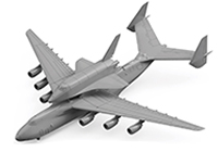 1/700 An-225 Mriya Military Transport Aircraft & Space Shuttle Orbiter Buran