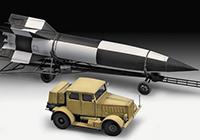 1/72 German Schwerer Wehrmachtschlepper SS-100 & Transporter & V-2 Rocket