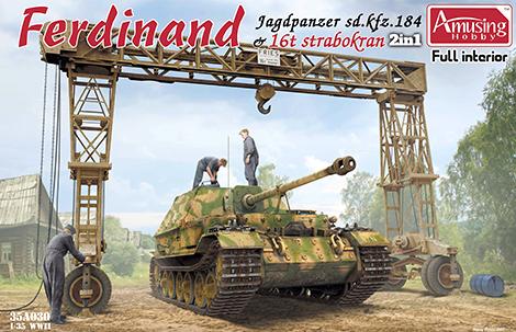 1/35 Ferdinand Jagdpanzer Sd.Kfz. 184 & 16t Strabokran