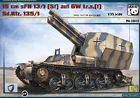 1/35 15cm sFH 13/1(Sf) auf GW Lr.s.(f) Sd.Kfz. 135/1
