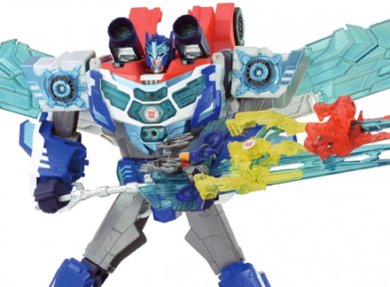 TAV61 Transformers Hyper Surge God Optimus Prime Micron Set