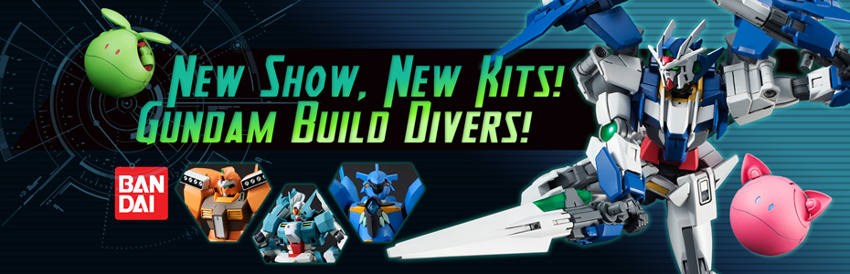 Gundam Build Divers Kits!