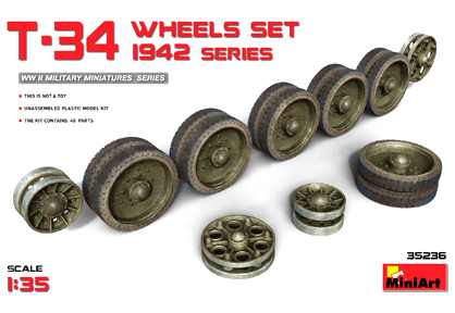 T-34 Wheels Set 1942 Series