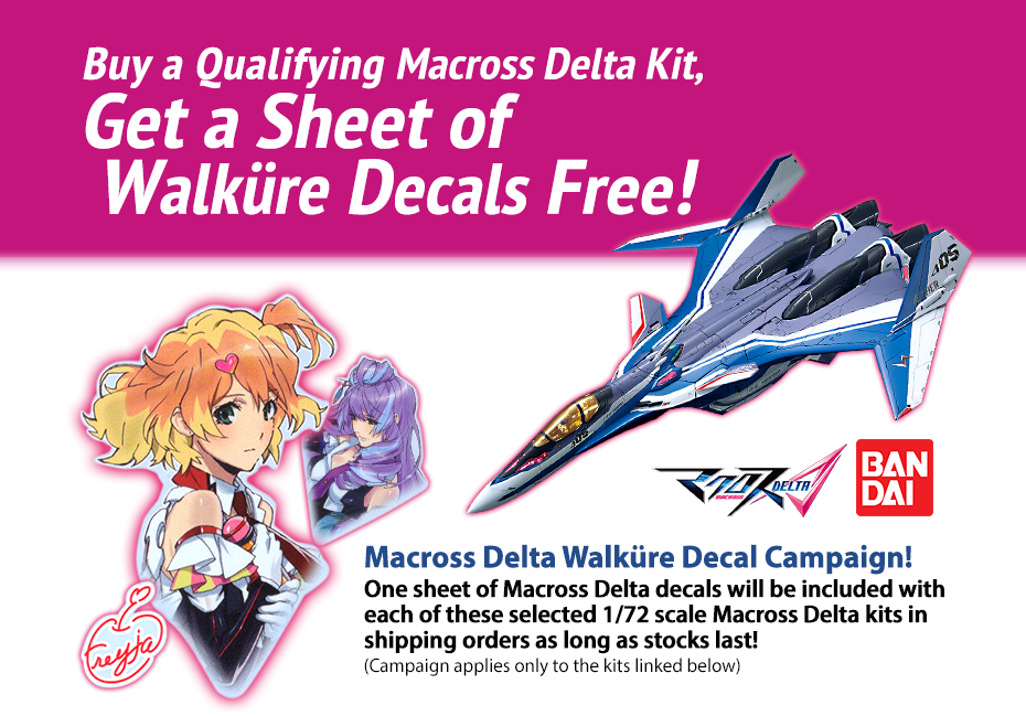Macross Delta Walkure Decal Campaign!