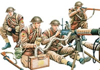 1/35 W.W.II British MG Team In Combat (N.W. Europe)