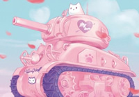 Pinky World War Toons M4A1 Sherman (Pink Color)
