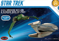 1/1000 Star Trek U.S.S. Grissom and Klingon Bird of Prey