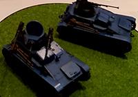 1/35 Girls und Panzer: Ribbon no Musha Type 94 Tankette Team Oni Super Kai & Unmanned Turret (2 Car Set)
