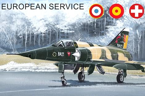 1/144 ミラージュIIIE/EE/RS/5BA ヨーロッパ諸国のミラージュ