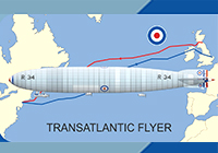 1/720 イギリス R33/R34飛行船 大西洋横断機