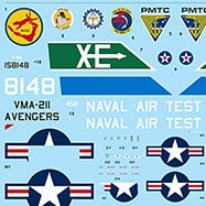 Decal sheet for models