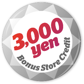 3,000 Yen Bonus Store Credit