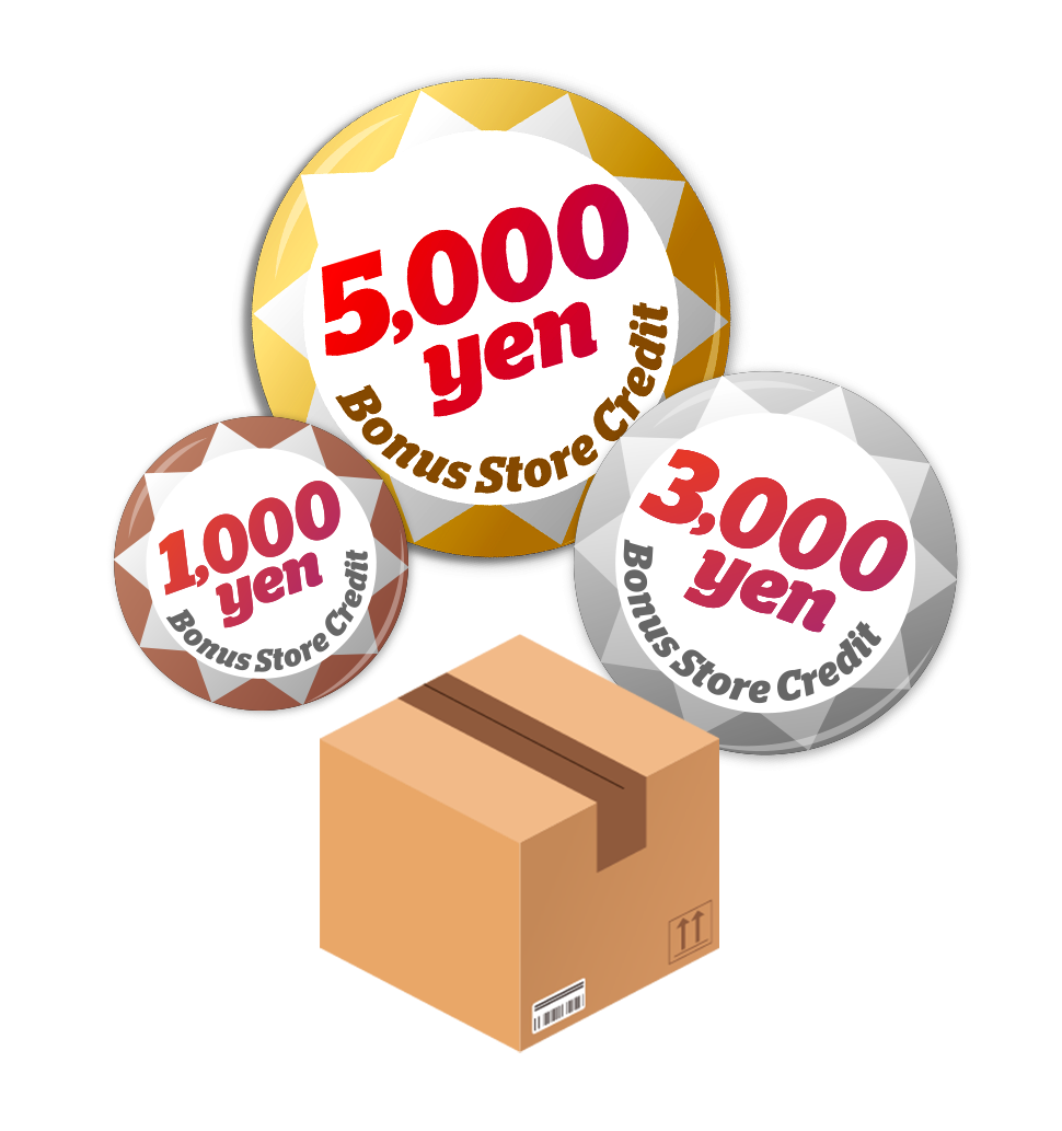 Win Up to 5,000 Yen Bonus Store Credit