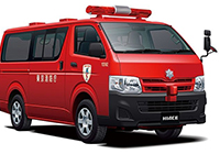 1/24 Toyota TRH200V HiAce Fire Department Inspection Public Relations Vehicle '10