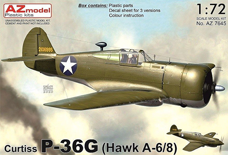 1/72 Curtiss P-36G (Hawk A-6/8)