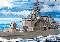 1/700 IJN Defense Destroyer DDG-171 Hatakaze Light Cruiser with Photo-Etched Parts