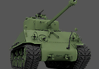 1/35 M4A3 76W HVSS Sherman with Full Interior and Workable Track Links
