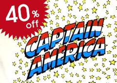 Marvel Eco Marked Cotton Bag Captain America Logo